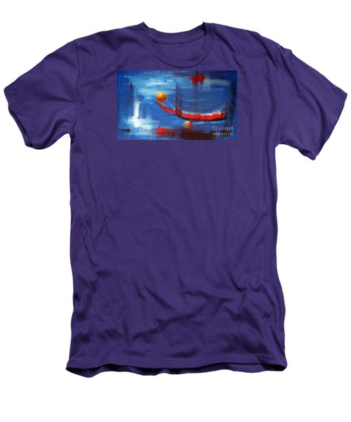 Men's T-Shirt (Slim Fit) featuring the painting Dream Ship by Arturas Slapsys
