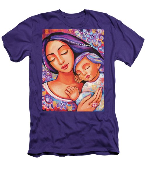 Men's T-Shirt (Athletic Fit) featuring the painting Dreaming Together by Eva Campbell