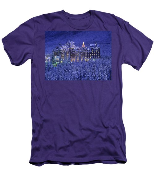 D.wiggett Banff Springs Hotel In Winter Men's T-Shirt (Athletic Fit)