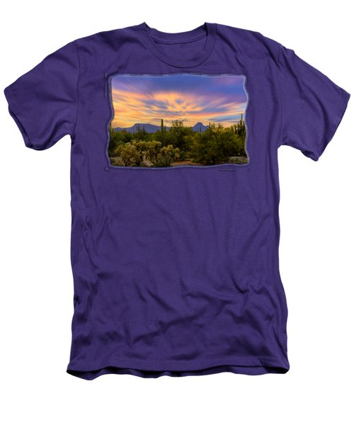 Easter Sunset H18 Men's T-Shirt (Slim Fit) by Mark Myhaver