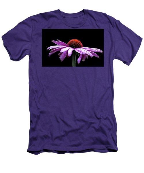 Echinacea Men's T-Shirt (Slim Fit) by Sheldon Bilsker