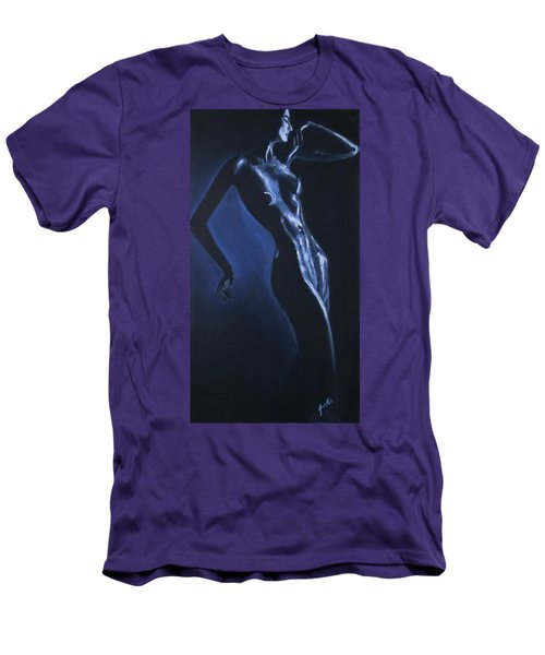 Men's T-Shirt (Athletic Fit) featuring the painting Eclipse by Jarko Aka Lui Grande