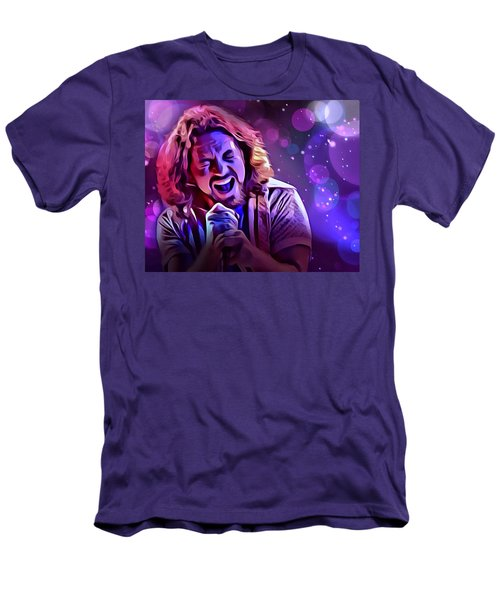 Eddie Vedder Portrait Men's T-Shirt (Slim Fit) by Scott Wallace