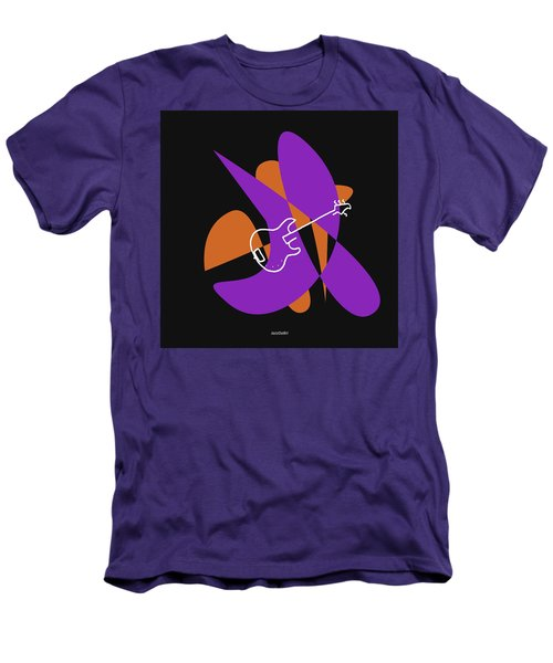 Electric Bass In Purple Men's T-Shirt (Athletic Fit)