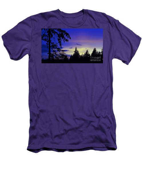 Men's T-Shirt (Slim Fit) featuring the photograph Evening Blue by Victor K