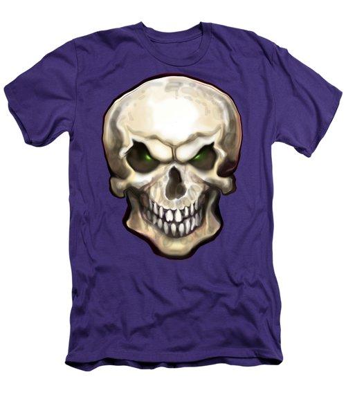 Evil Skull Men's T-Shirt (Slim Fit) by Kevin Middleton