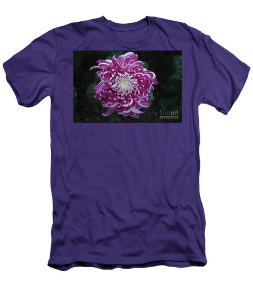 Fancy Chrysanthemum In Pink Men's T-Shirt (Athletic Fit)