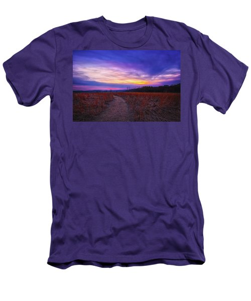 Men's T-Shirt (Slim Fit) featuring the photograph February Sunset And Path At Retzer Nature Center by Jennifer Rondinelli Reilly - Fine Art Photography