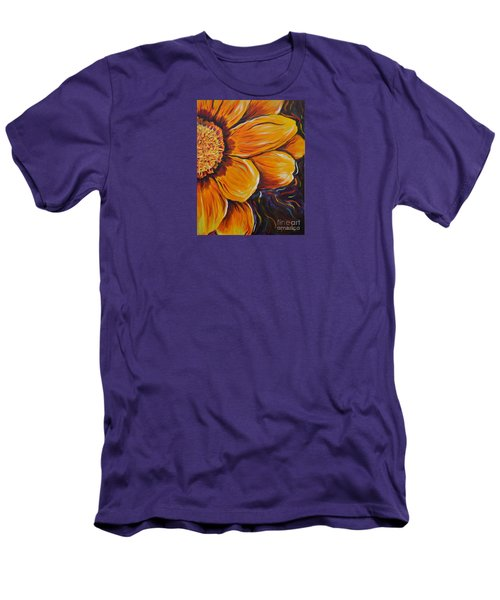 Men's T-Shirt (Slim Fit) featuring the painting Fiesta Of Courage by Lisa Fiedler Jaworski