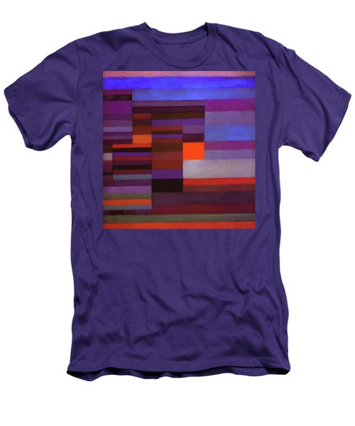 Fire In The Evening Men's T-Shirt (Slim Fit) by Paul Klee