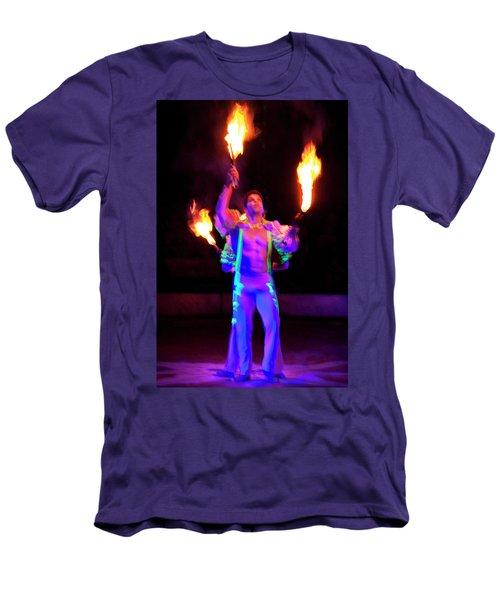 Fire Juggler Men's T-Shirt (Athletic Fit)