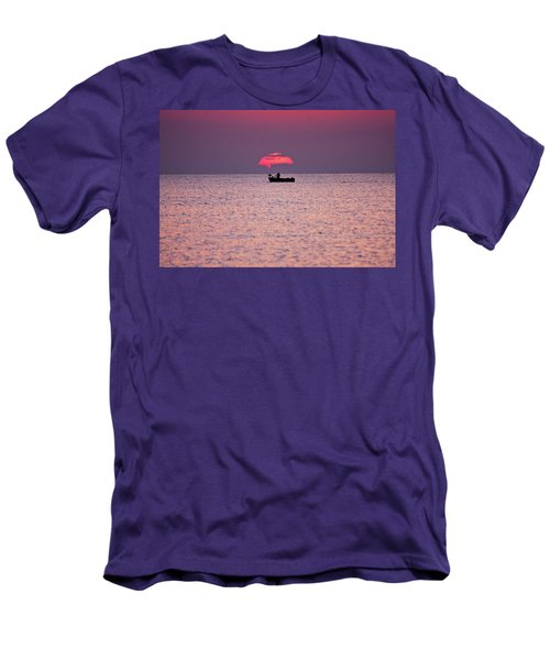 Men's T-Shirt (Slim Fit) featuring the photograph Fisherman by Bruno Spagnolo