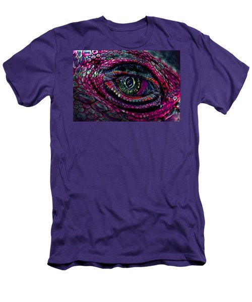 Flaming Dragons Eye Men's T-Shirt (Athletic Fit)