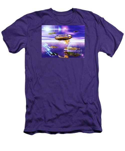Men's T-Shirt (Slim Fit) featuring the digital art Fleet Dense by Jacqueline Lloyd