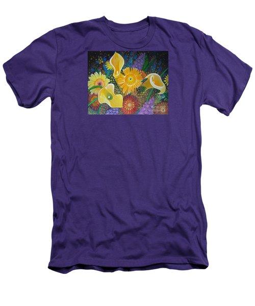 Floral Fireworks Men's T-Shirt (Athletic Fit)