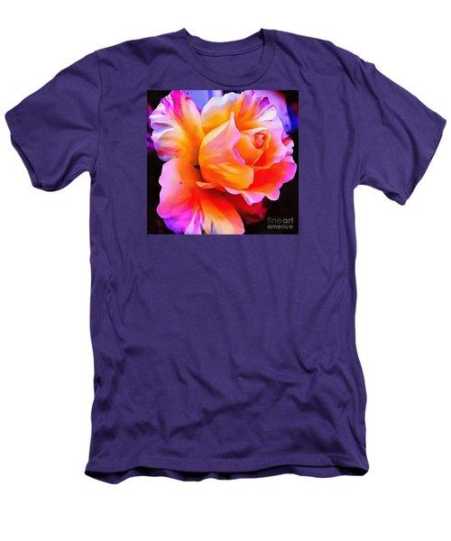 Floral Interior Design Thick Paint Men's T-Shirt (Slim Fit) by Catherine Lott