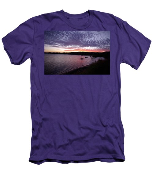 Men's T-Shirt (Slim Fit) featuring the photograph Four Elements Sunset Sequence 6 Coconuts Qld  by Kerryn Madsen-Pietsch