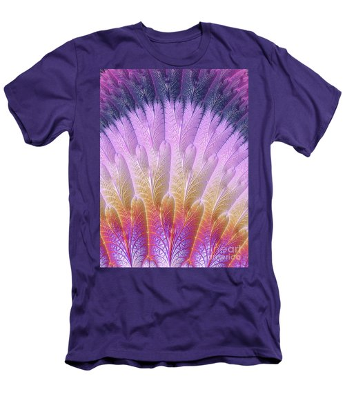 Fractal Feather Fan Men's T-Shirt (Athletic Fit)