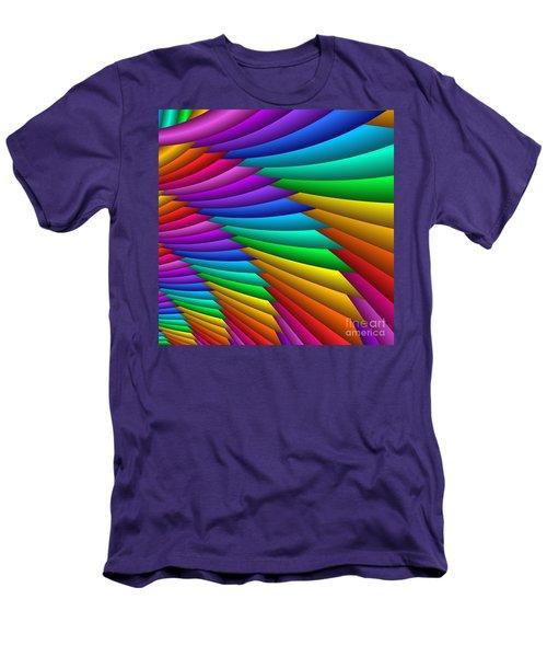 Fractalized Colors -8- Men's T-Shirt (Athletic Fit)
