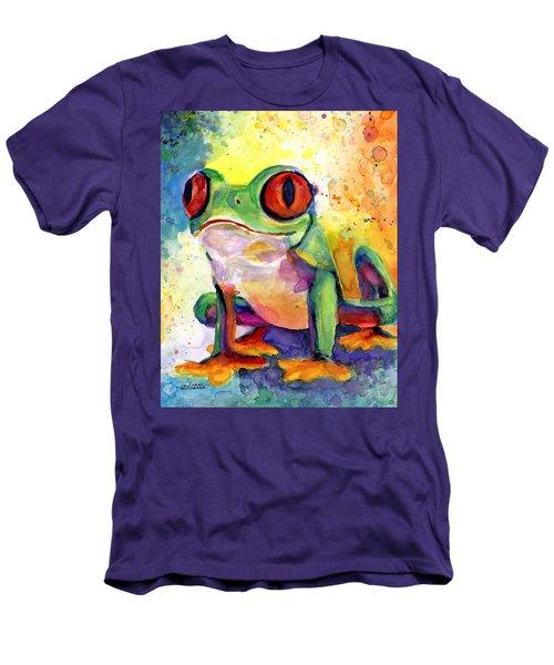 Froggy Mcfrogerson Men's T-Shirt (Slim Fit) by Arleana Holtzmann