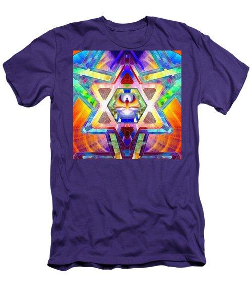 Men's T-Shirt (Athletic Fit) featuring the digital art Galactic Salon by Derek Gedney