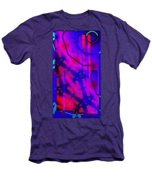 Geometric 2 Men's T-Shirt (Slim Fit) by Ron Bissett