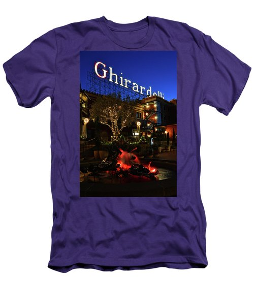 Ghirardelli Square Men's T-Shirt (Slim Fit) by James Kirkikis