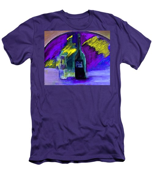 Men's T-Shirt (Slim Fit) featuring the painting Ghost Wine by Lisa Kaiser