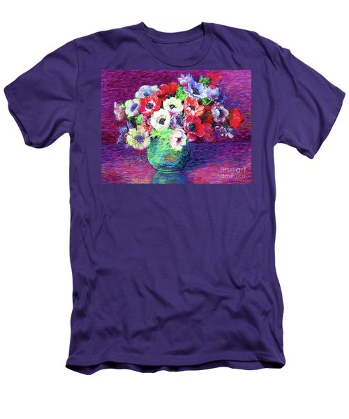 Gift Of Anemones Men's T-Shirt (Slim Fit) by Jane Small