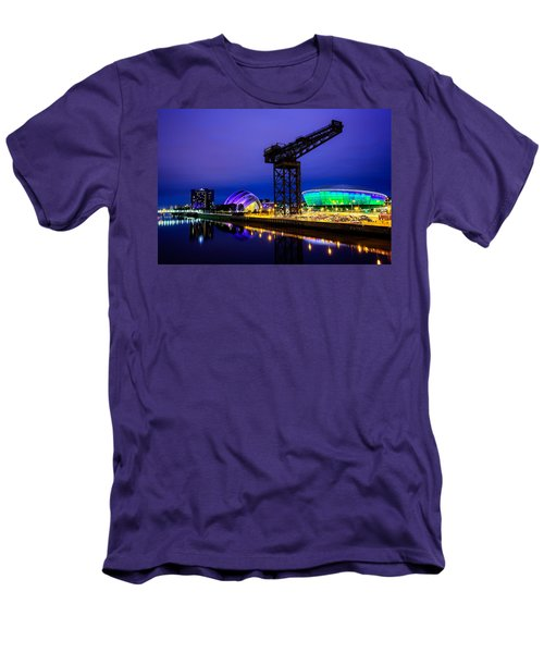 Glasgow At Night Men's T-Shirt (Athletic Fit)