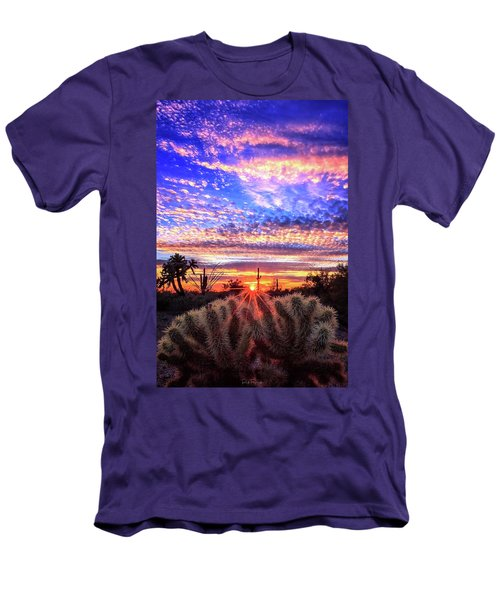 Glimmering Skies Men's T-Shirt (Slim Fit) by Rick Furmanek