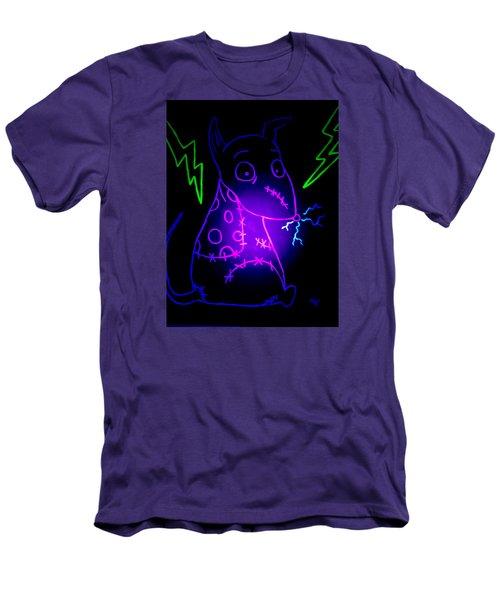 Glow Frankenweenie Sparky Men's T-Shirt (Slim Fit) by Marisela Mungia
