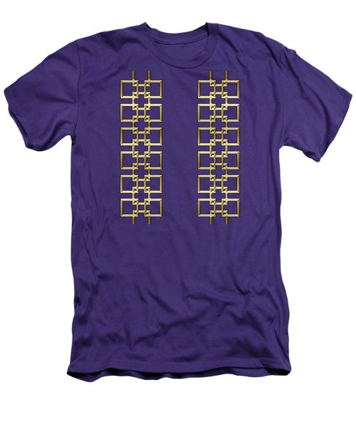 Men's T-Shirt (Slim Fit) featuring the digital art Gold Geo 5 - Chuck Staley Design by Chuck Staley