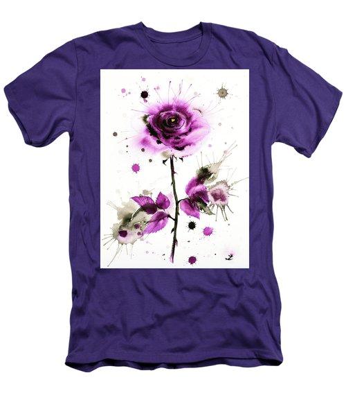 Gold Heart Of The Rose Men's T-Shirt (Slim Fit) by Zaira Dzhaubaeva