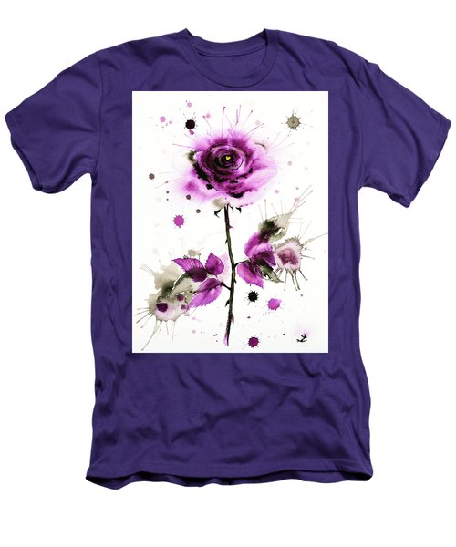 Gold Heart Of The Rose Men's T-Shirt (Athletic Fit)