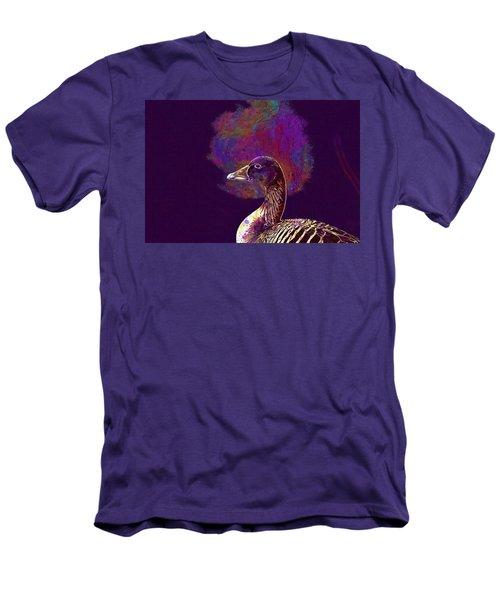 Men's T-Shirt (Athletic Fit) featuring the digital art Goose Bird Wild Goose  by PixBreak Art