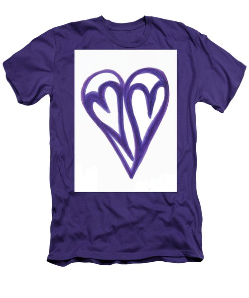 Grateful Heart Thoughtful Heart Men's T-Shirt (Athletic Fit)