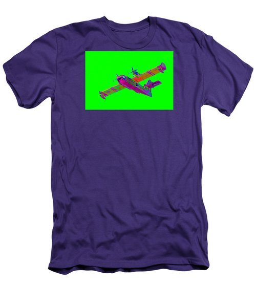 Green Fire Flight  Men's T-Shirt (Slim Fit) by Richard Patmore