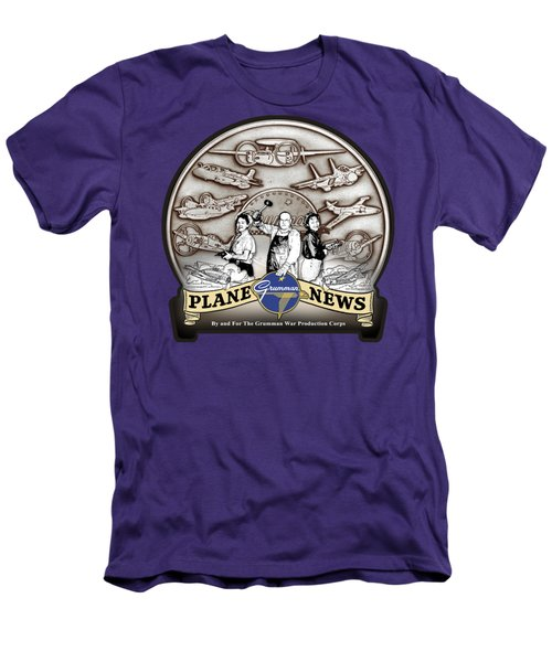 Grumman Plane News Men's T-Shirt (Athletic Fit)