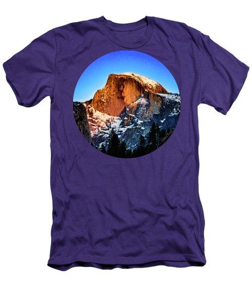 Half Dome Aglow Men's T-Shirt (Slim Fit) by Adam Morsa