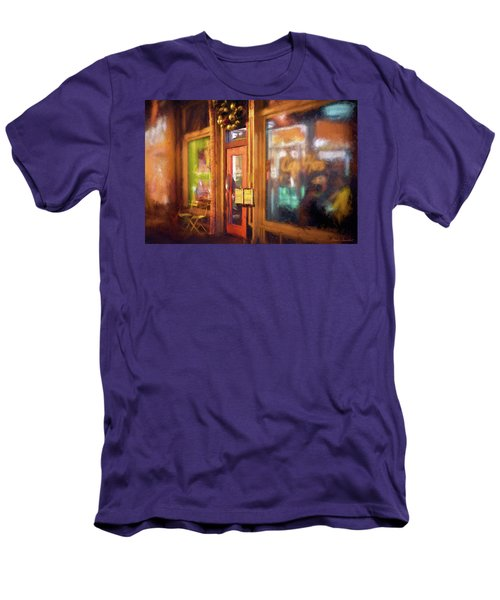 Hampden Cafe Men's T-Shirt (Slim Fit) by Glenn Gemmell