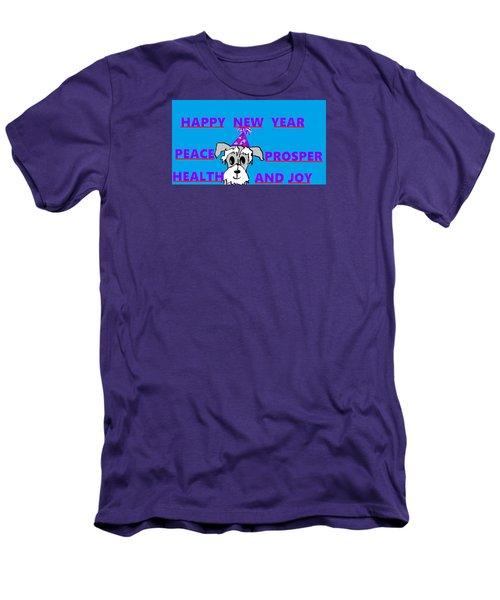 Happy New Year Men's T-Shirt (Slim Fit) by Linda Velasquez