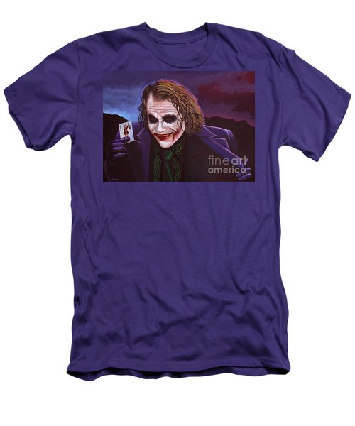 Heath Ledger As The Joker Painting Men's T-Shirt (Slim Fit) by Paul Meijering