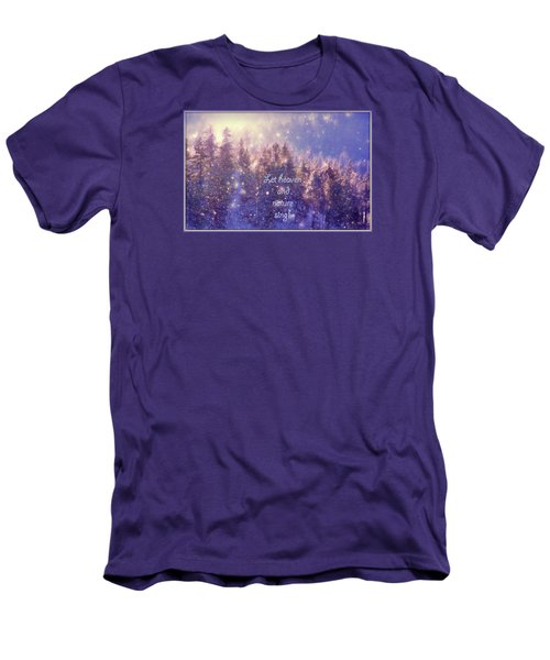 Men's T-Shirt (Slim Fit) featuring the photograph Heaven And Nature by Kathy Bassett
