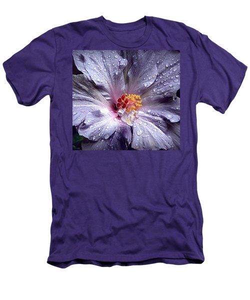 Hibiscus In The Rain Men's T-Shirt (Athletic Fit)