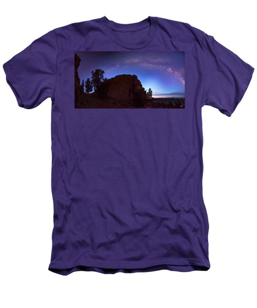 Men's T-Shirt (Slim Fit) featuring the photograph High Desert Dawn by Leland D Howard