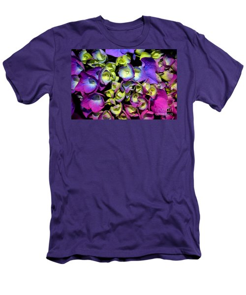 Hydrangea Men's T-Shirt (Slim Fit) by Vivian Krug Cotton