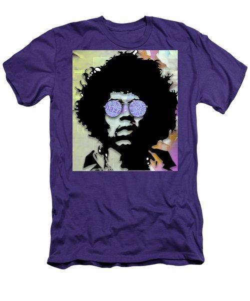 imaginative Jimi Hendrix Men's T-Shirt (Athletic Fit)