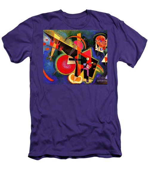 In The Blue Men's T-Shirt (Slim Fit) by Kandinsky
