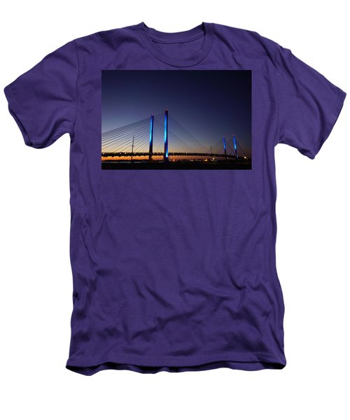 Men's T-Shirt (Athletic Fit) featuring the photograph Indian River Inlet Bridge by Ed Sweeney